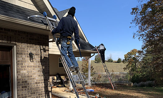 gutter guards direct installation crew