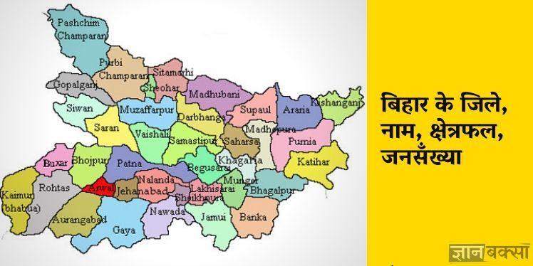 Photo of बिहार में कितने जिले हैं, नाम, क्षेत्रफल, जनसंख्या