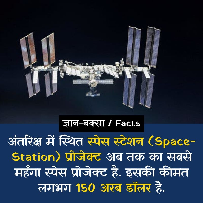 Space station facts in hindi