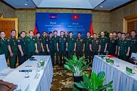 The Vietnam-Cambodia military leaders...
