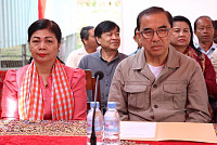 His Excellency Veng Sakhon came and...