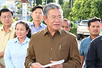 The governor of Pailin is giving a...