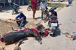 Two motorbike drivers were injured,...