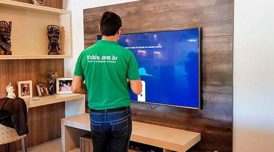 Intalação TV LED em Blumenau