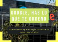 Como hacer que Google muestre tu meta description