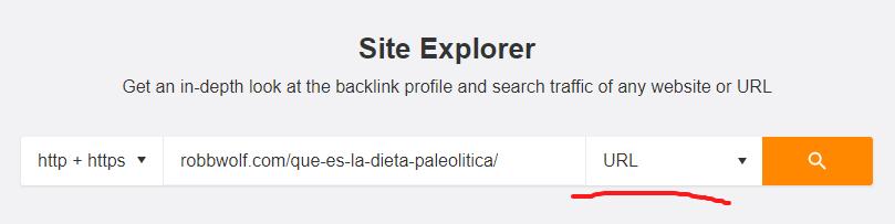 site explorer - examinar URL