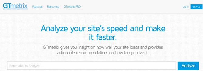 GTmetrix - Sitios Web para analizar la velocidad de carga de tú Web