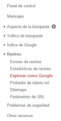 mejorar el posicionamiento seo con google search console - explorar como google