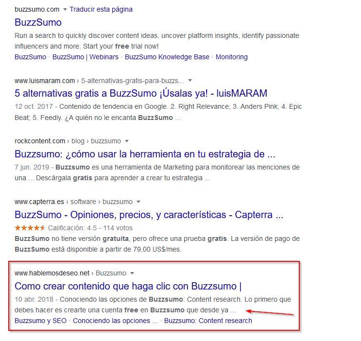 serps - buzzsumo