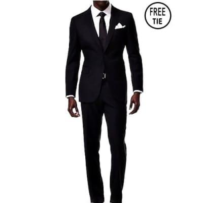 Classic Slim Fit Suit - Black