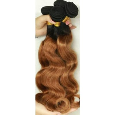 Mixed coloured Peruvian body wave hair