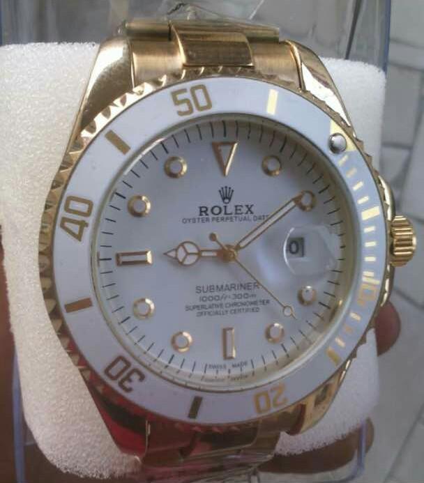 Rolex gold wrist watch unisex