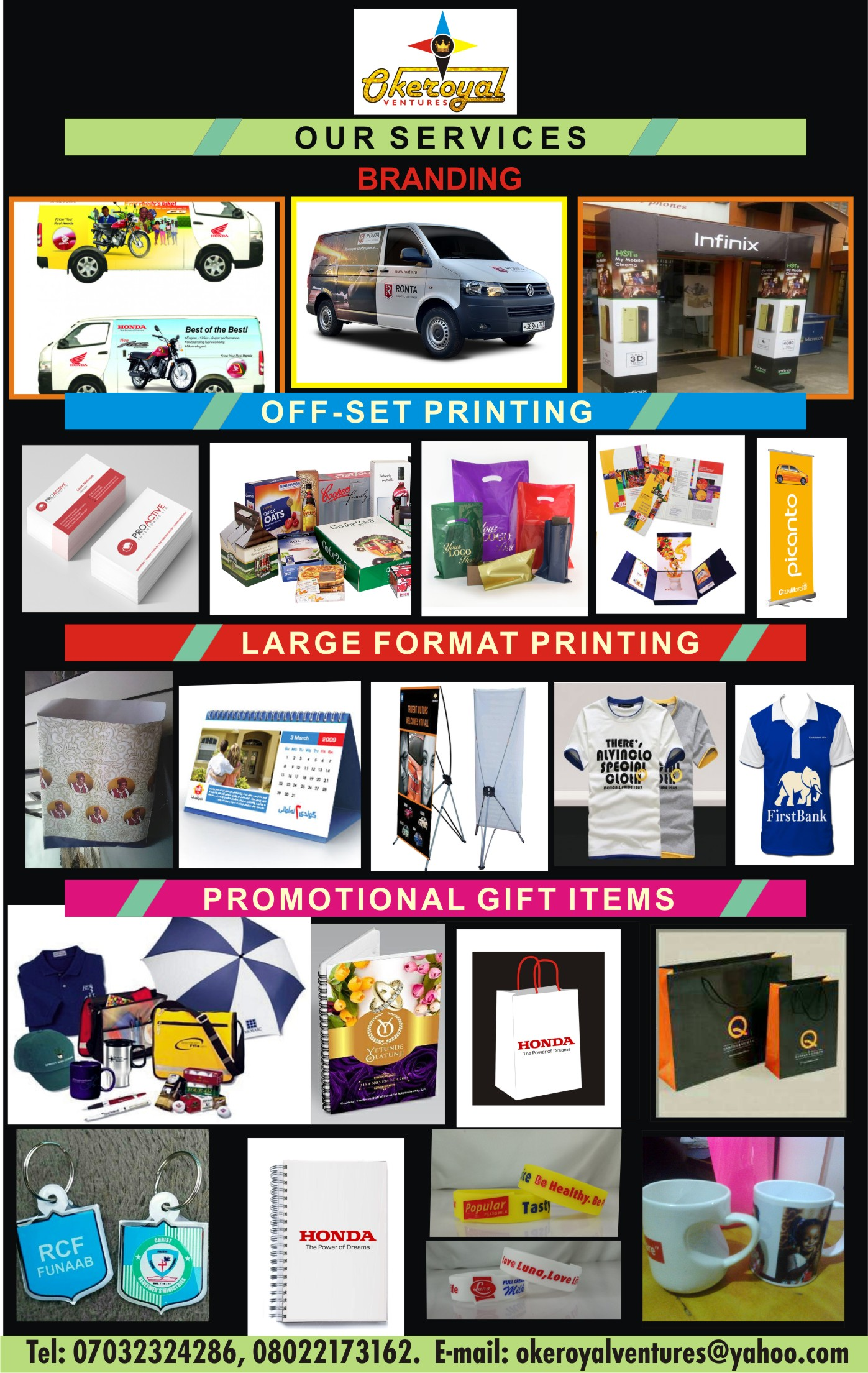 PRINTING WORK AND DESIGNS
