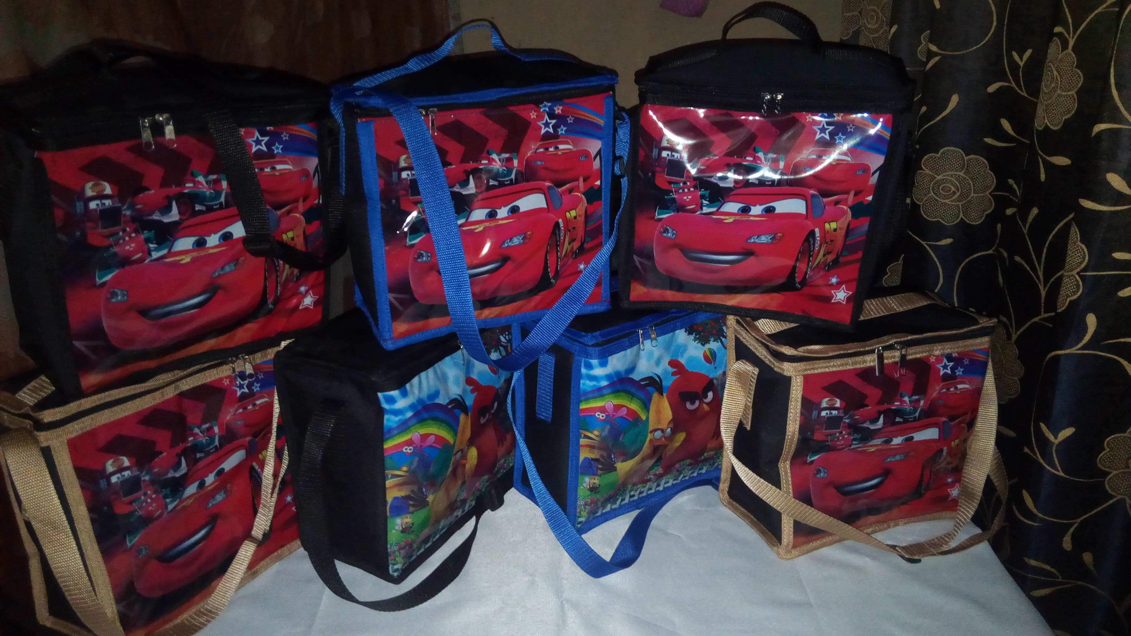 Cartoon character lunch bags