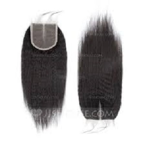 unprocessed Kinky straight lace closure