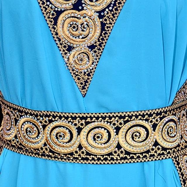 elegant kaftan with belt