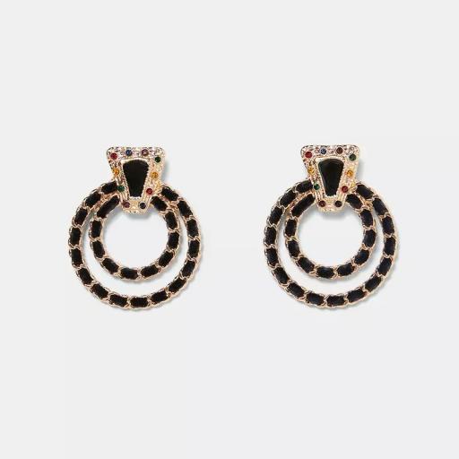 Zara inspired velvet earrings