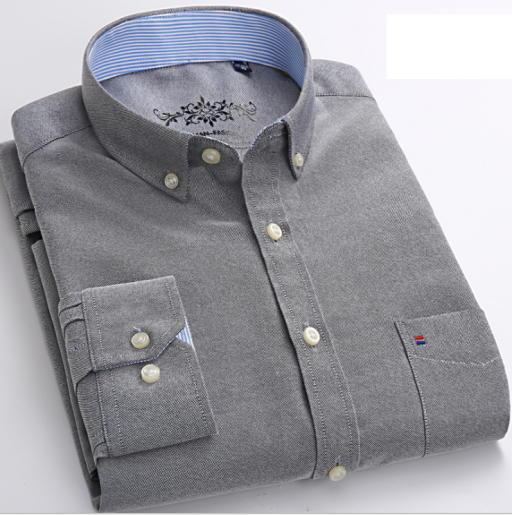 Men oxford spinning long-sleeved shirt