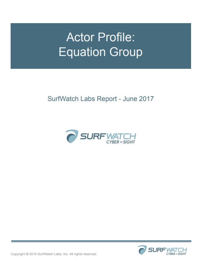 Actor profile equation group