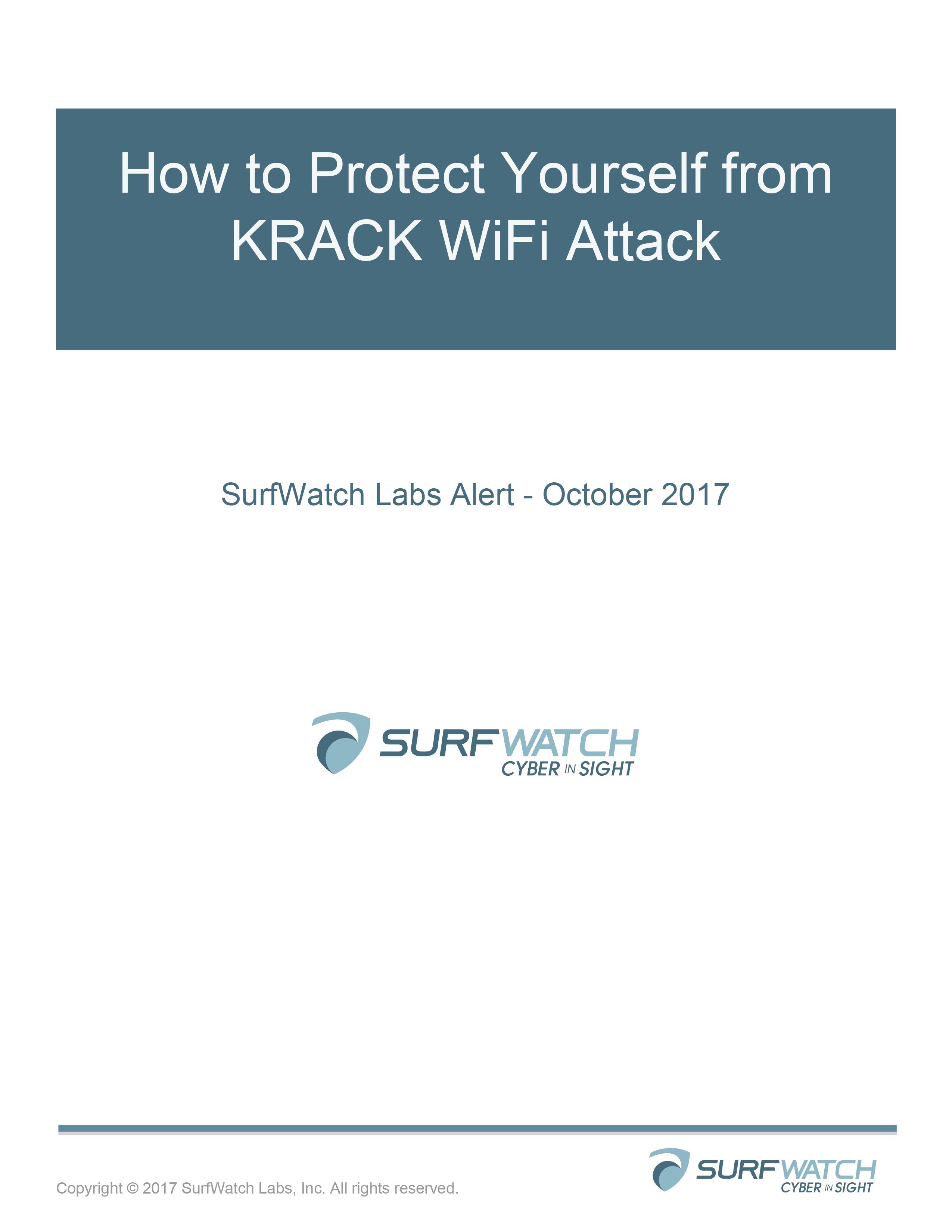 Cyber risk alert  krack 1