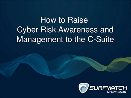 Cyber risk awareness and csuite 442w