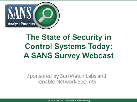 Sans state of security webcast 442w