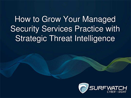 Threat intelligence for mssps 442w