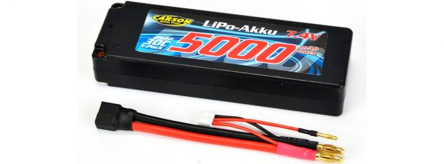 CARSON 500608136 LiPo Akku 5000mAh | 7.4V | 2S | 30C | Hardcase