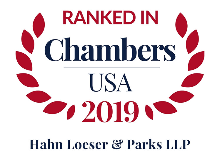 Hahn Loeser & Parks LLP Recognized in the 2019 Edition of Chambers USA®