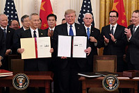 Trump signs trade deal with China