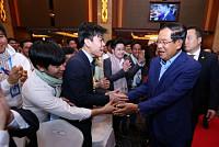 Samdech Techo Hun Sen Praises Oknha...