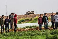 Israeli Bulldozer Wrests Gaza...