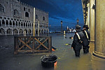 Venice Floods Because of Highest Tide...