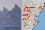 Sydney surrounded by smoke from...
