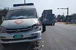 A truck in Svay Rieng district...