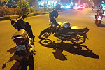 Two motorcycles collided with each...