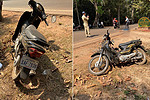 Man in motorbike hit a badge of death