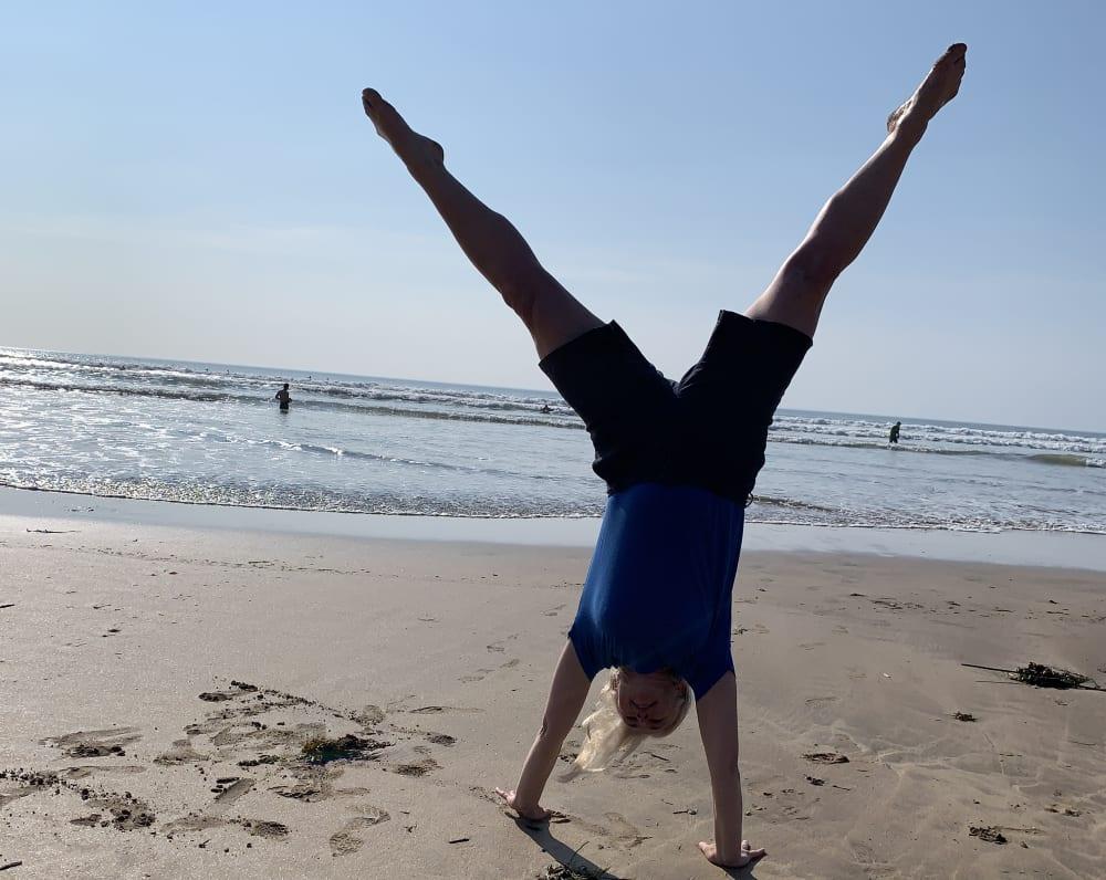 Happiness is cartwheeling