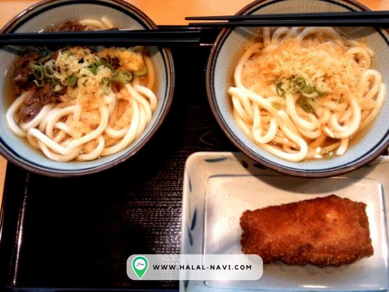 Kineya mugimaru halal restaurant in Narita Airport Tokyo.