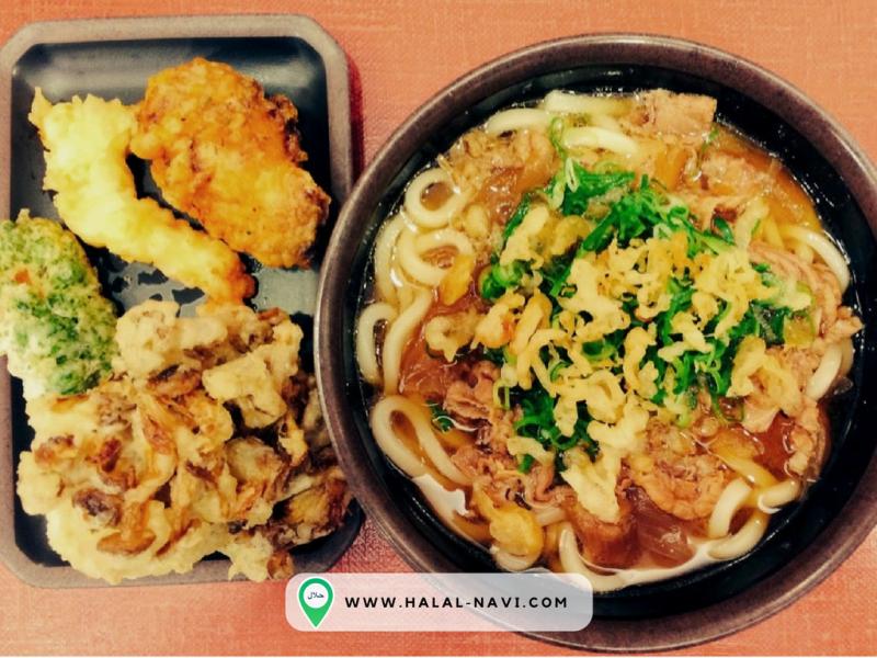 The U-don halal restaurant in Kansai Airport, Osaka.