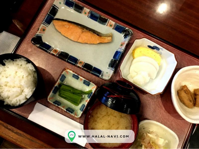 Sarapan pagi restoran halal Tentei lapangan terbang Narita.