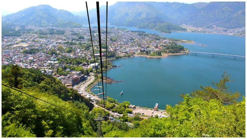 Lake Kawaguchiko from Kachi Kachi ropeway