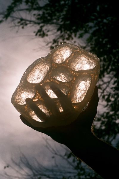 Half-Wet handmade silicone Ice Tray design. photo by Christian Michael Filardo