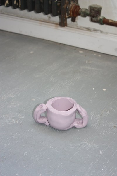 half-wet new york studio's hand-formed silicone mouthpiece handmade lilac industrial putty trophy
