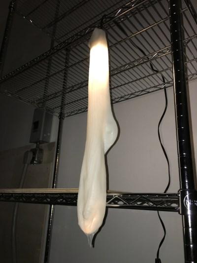 half-wet sweaty sock light