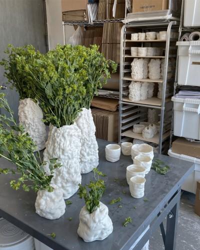 half-wet growth porcelain