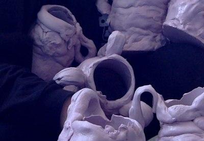 half-wet studio new york christina johnston hand-formed mouthpiece silicone vase