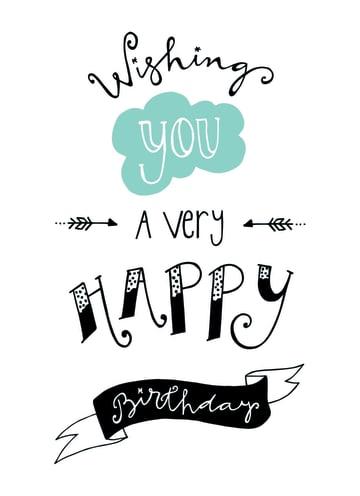 - Verjaardagswens