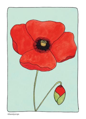 - een-simpele-kaart-met-een-mooie-rode-bloem