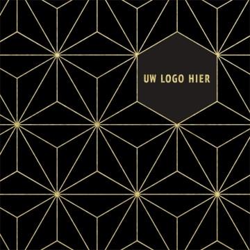 - hallmark-kerstkaart-goud-patroon-op-zwart
